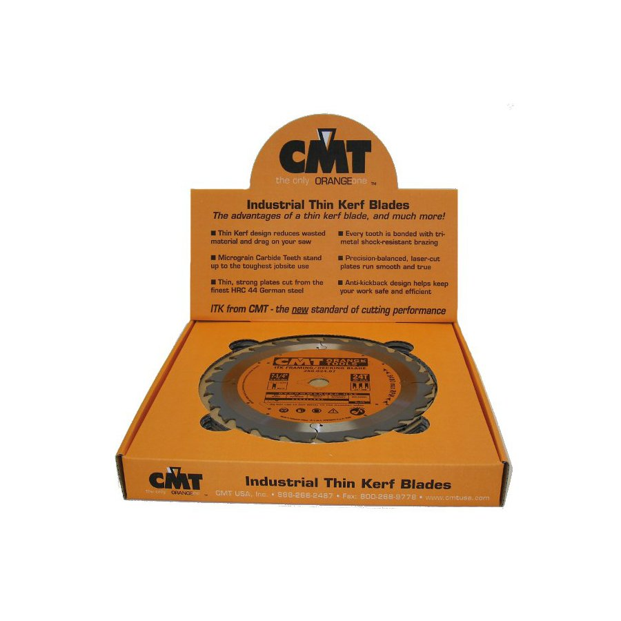 CMT 10-Pack 7-1/4-in 24-Tooth Continuous Carbide Circular Saw Blade