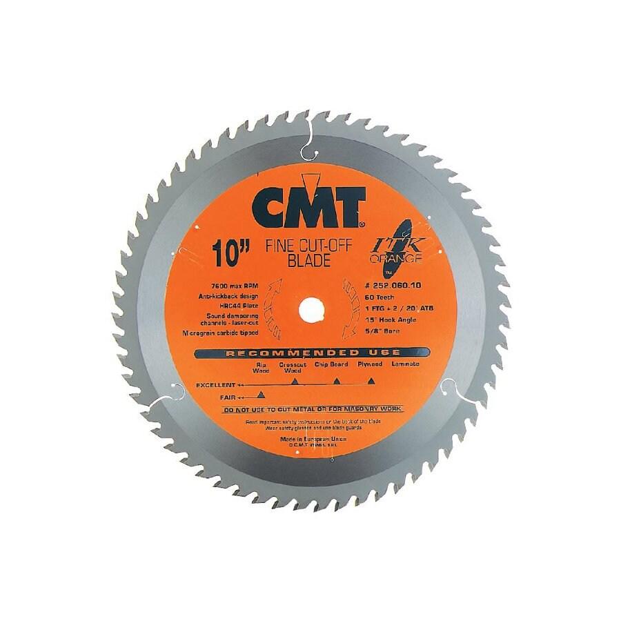 CMT 10-in 60-Tooth Continuous Carbide Circular Saw Blade