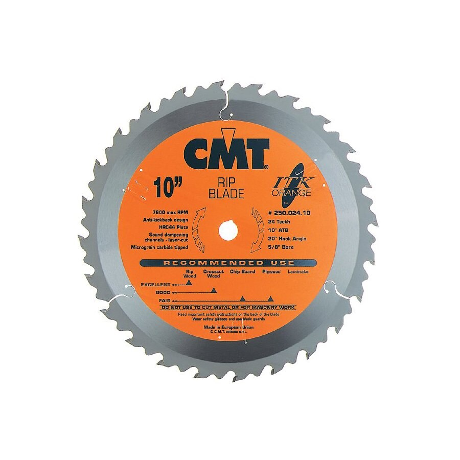CMT 8-1/4-in 24-Tooth Continuous Carbide Circular Saw Blade