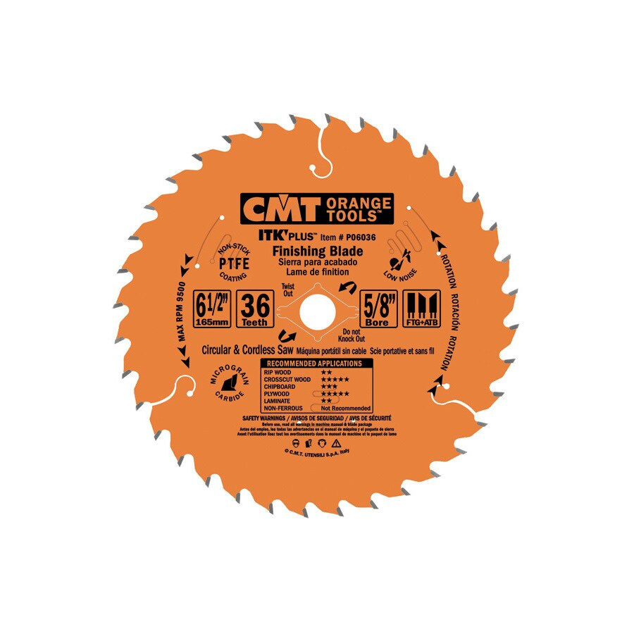 CMT 6-1/2-in 36-Tooth Continuous Carbide Circular Saw Blade