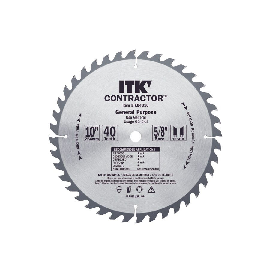 CMT 12-in 40-Tooth Continuous Carbide Circular Saw Blade
