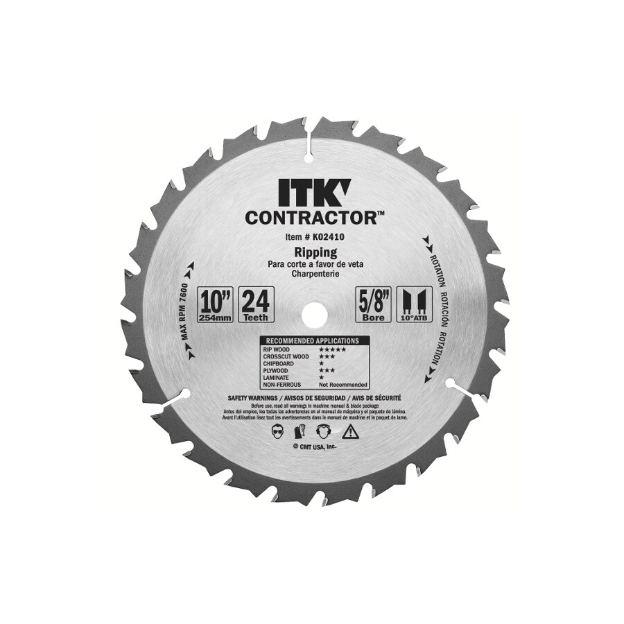 CMT 12-in 24-Tooth Continuous Carbide Circular Saw Blade