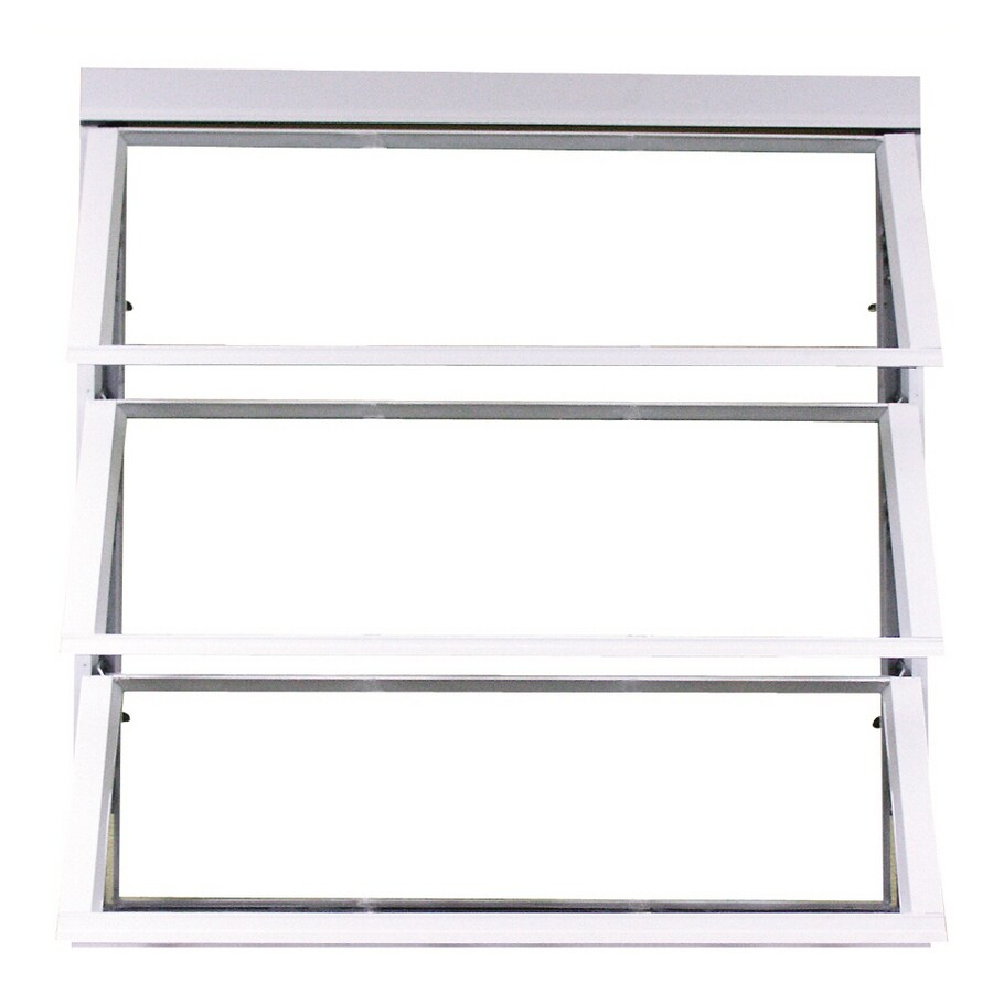 West Palm 800 Series Horizontal Aluminum Single Pane Double Strength Replacement Egress Awning Window (Rough Opening: 28.25-in x 27-in; Actual: 26.5-in x 26-in)