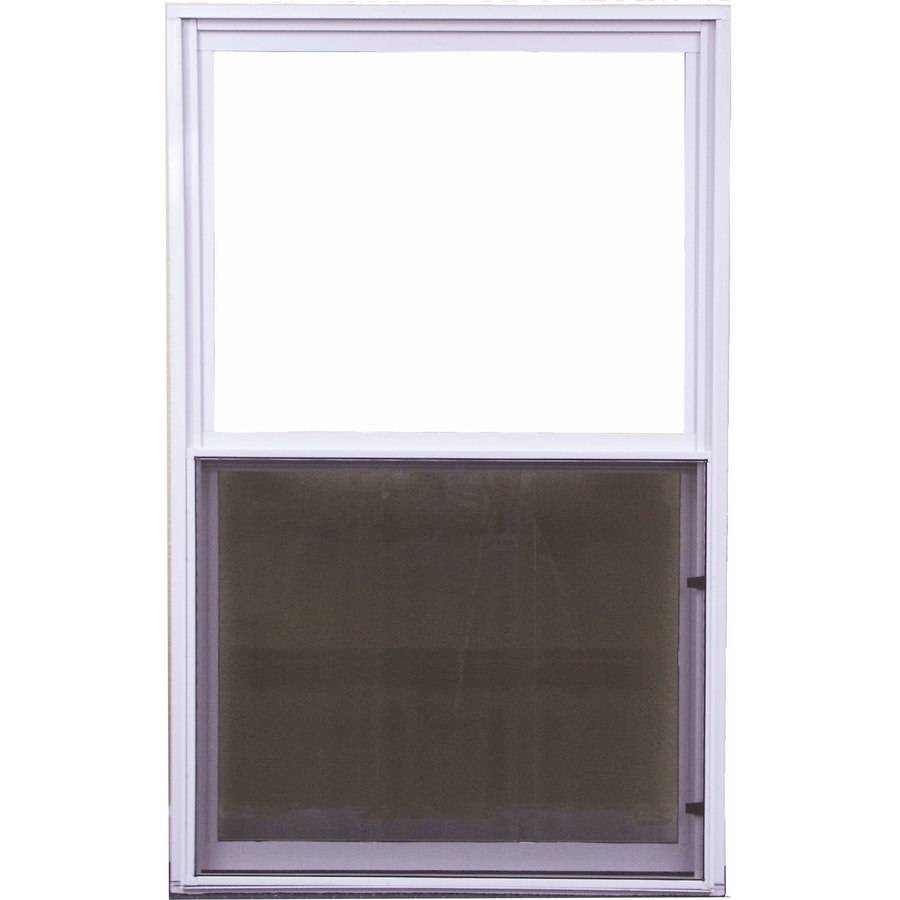 West Palm 500 Series Aluminum Single Pane Double Strength Replacement Single Hung Window (Rough Opening: 38-in x 27-in; Actual: 37-in x 26-in)