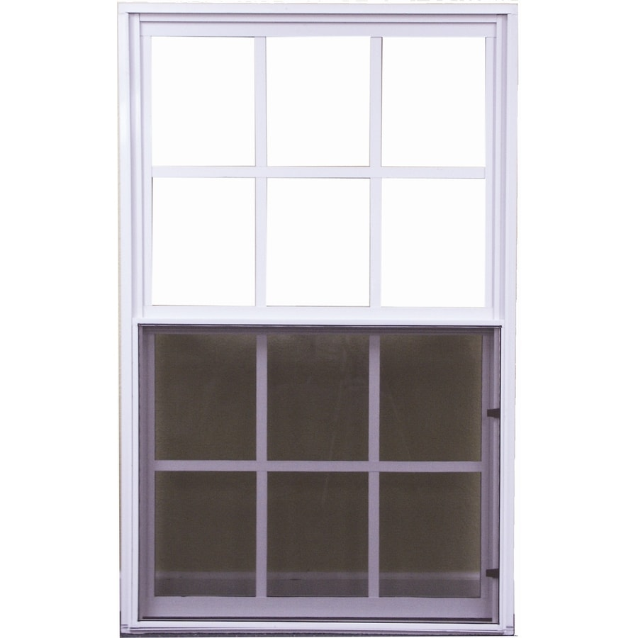 West Palm 500 Series Aluminum Single Pane Double Strength Replacement Single Hung Window (Rough Opening: 38-in x 51.625-in; Actual: 37-in x 50.625-in)