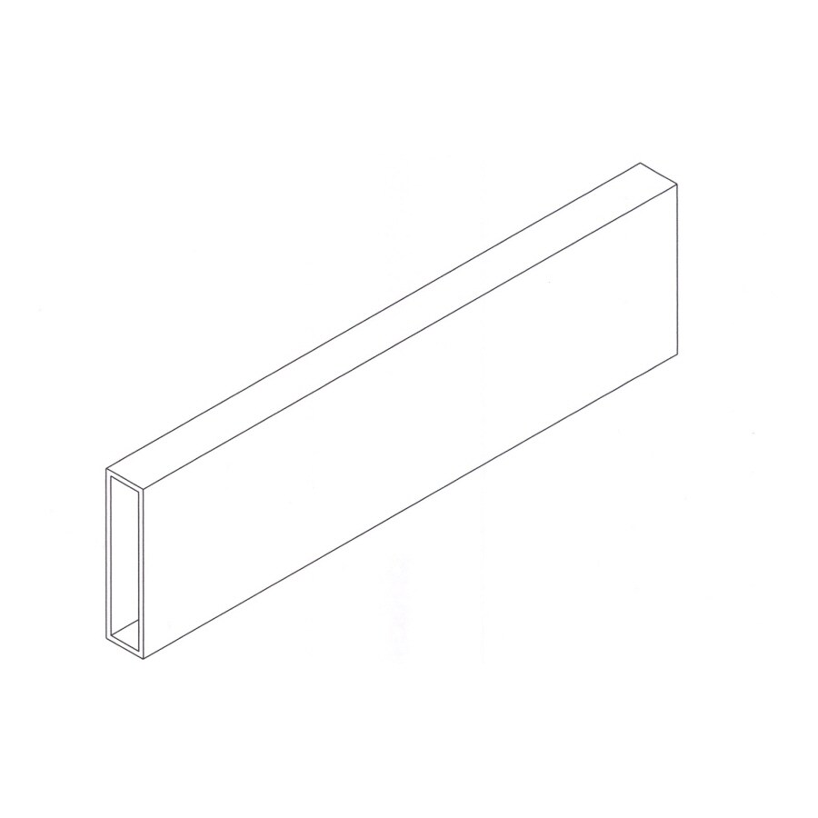 "West Palm 4"" x 37-3/8"" White Aluminum Mullion"