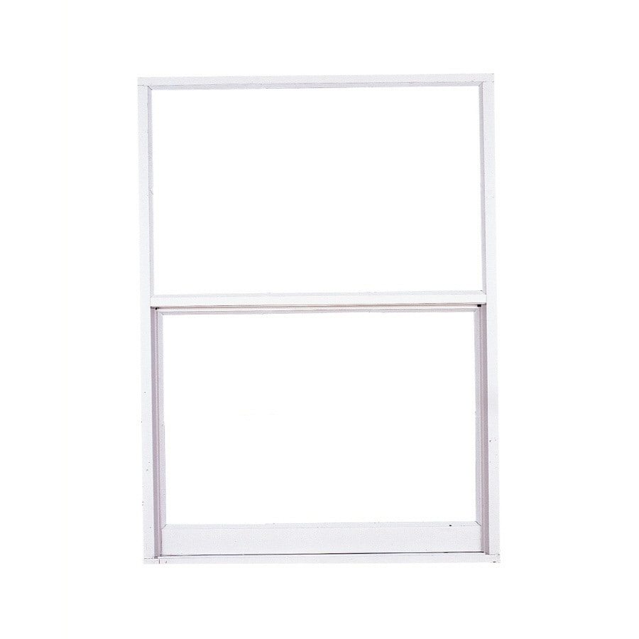 West Palm 2500 Series Aluminum Single Pane Double Strength Replacement Egress Single Hung Window (Rough Opening: 27.5-in x 39.375-in; Actual: 26.5-in x 38.375-in)