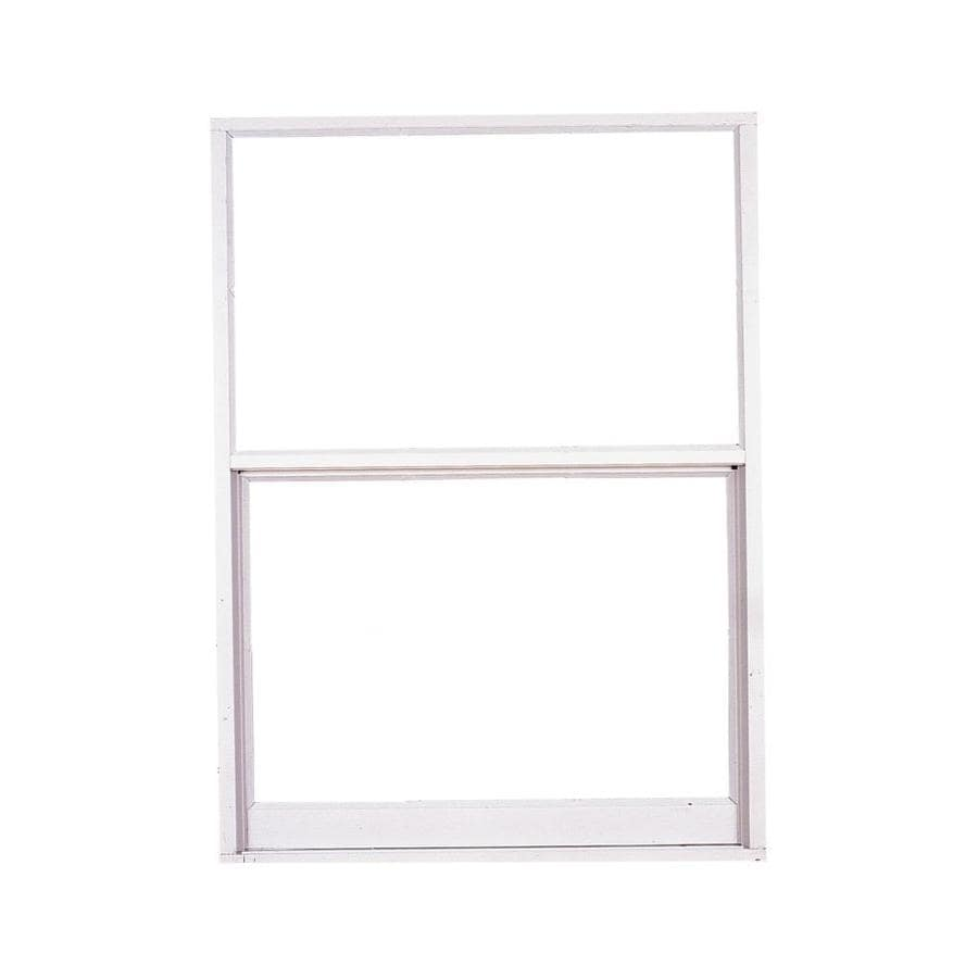 West Palm 2500 Series Aluminum Single Pane Double Strength Replacement Egress Single Hung Window (Rough Opening: 38-in x 64-in; Actual: 37-in x 63-in)