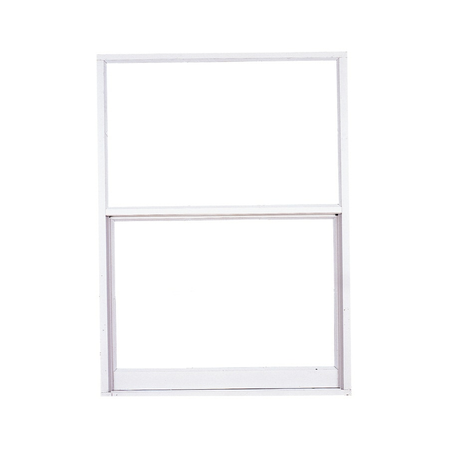 West Palm 2500 Series Aluminum Single Pane Double Strength Replacement Egress Single Hung Window (Rough Opening: 54.125-in x 51.625-in; Actual: 53.125-in x 50.625-in)