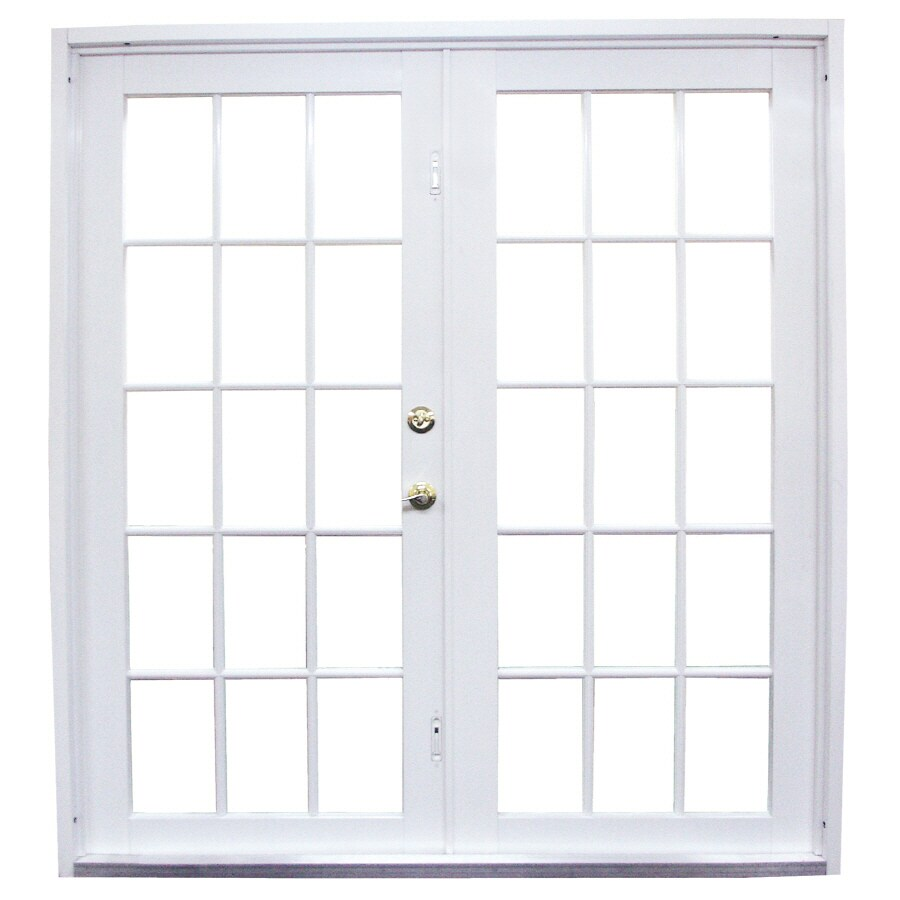 West Palm 72 In Clear Glass White Aluminum French Outswing Patio Door