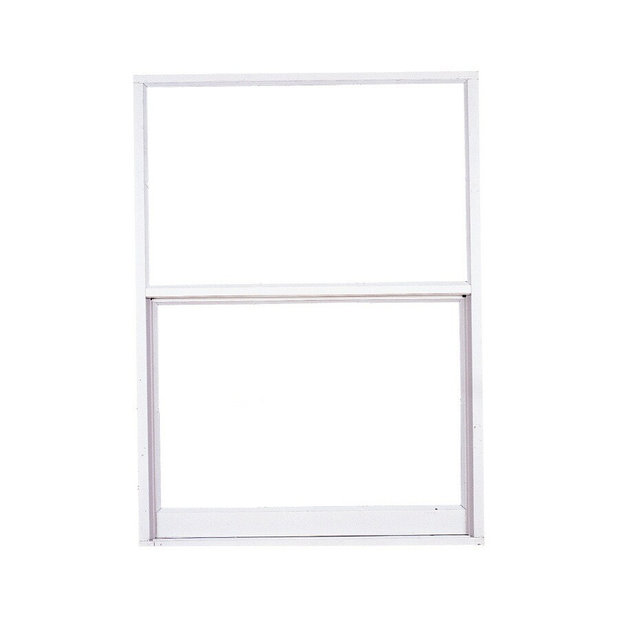 West Palm 580 Series Aluminum Single Pane Double Strength Replacement Egress Single Hung Window (Rough Opening: 27.5-in x 27-in; Actual: 26.5-in x 26-in)