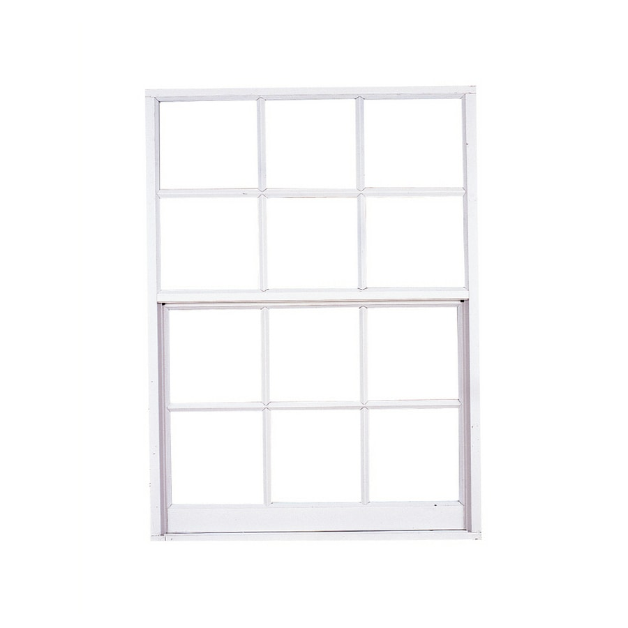 West Palm 580 Series Aluminum Single Pane Double Strength Replacement Egress Single Hung Window (Rough Opening: 27.5-in x 39.375-in; Actual: 26.5-in x 38.375-in)