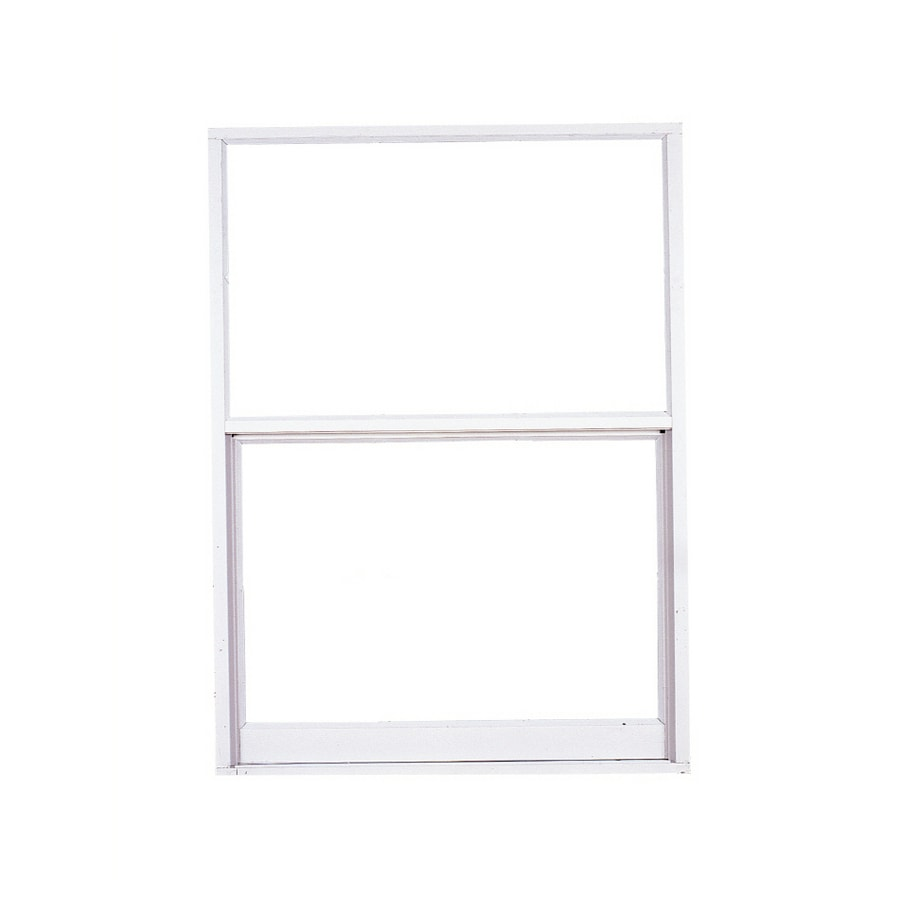 West Palm 580 Series Aluminum Single Pane Double Strength Replacement Egress Single Hung Window (Rough Opening: 38-in x 39.375-in; Actual: 37-in x 38.375-in)