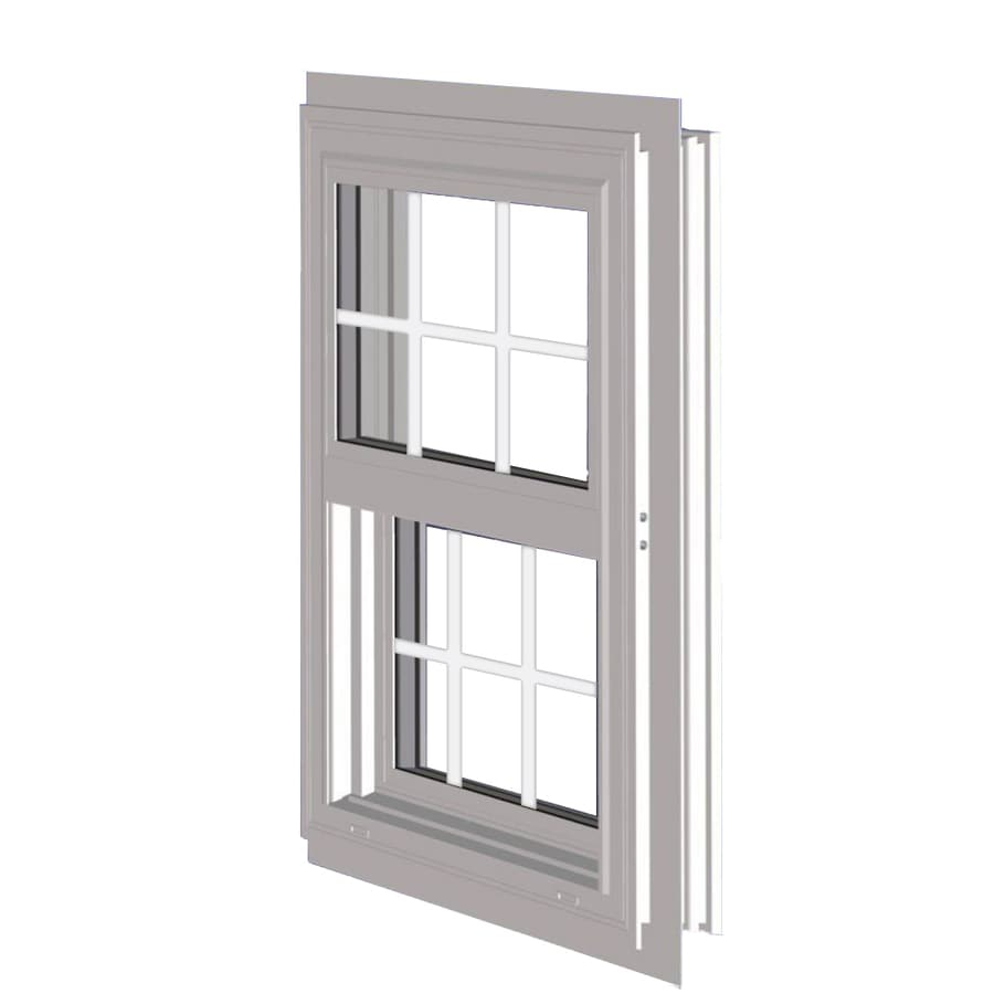 West Palm 10000 Series Vinyl Double Pane Double Strength Replacement Single Hung Window (Rough Opening: 37-in x 50.625-in; Actual: 36-in x 49.625-in)