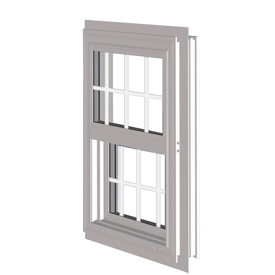 West Palm 10000 Series Vinyl Double Pane Double Strength Replacement Single Hung Window (Rough Opening: 53.125-in x 38.375-in; Actual: 52.125-in x 37.375-in)