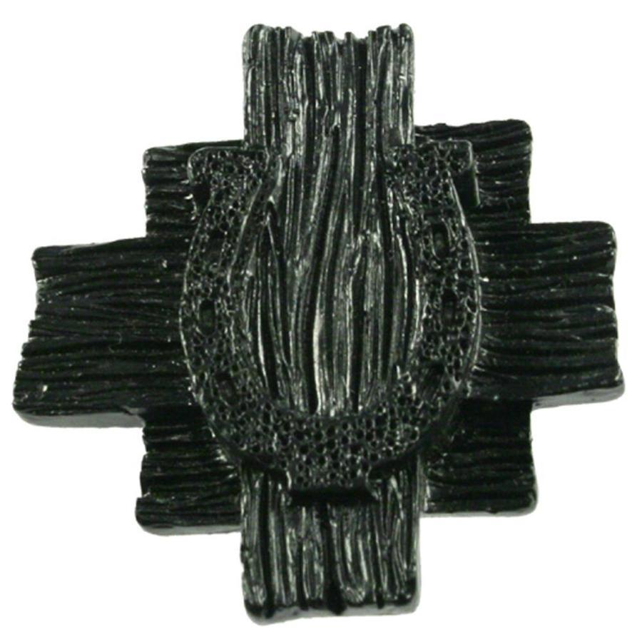 Sierra Black Round Cabinet Knob
