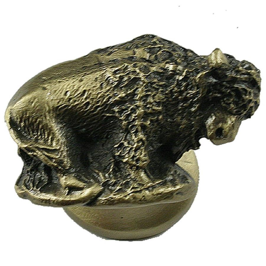 Sierra Antique Brass Round Cabinet Knob