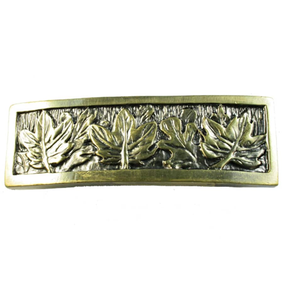 Sierra 3-in Center-to-Center Antique Brass Rustic Cabinet Pull