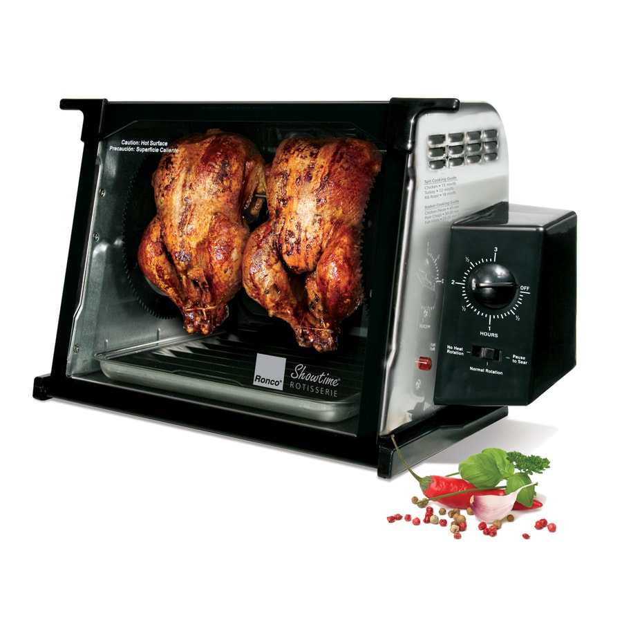 High Quality Ronco 1250 Watt Stainless Steel Countertop Rotisserie Oven