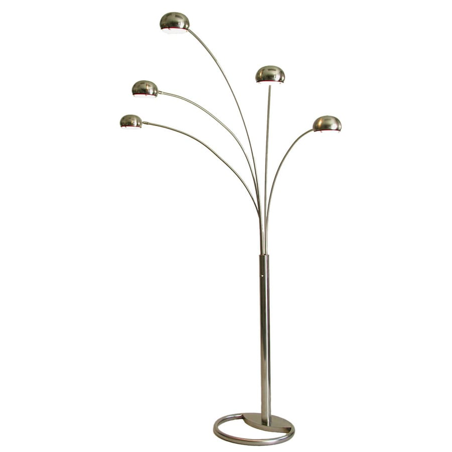 Nova Lighting 87-in Brushed Nickel Multi-Head Floor Lamp with Metal Shade