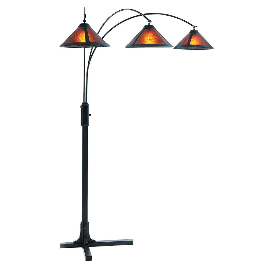 Nova Lighting 87-in Bronze Multi-Head Floor Lamp with Plastic Shade
