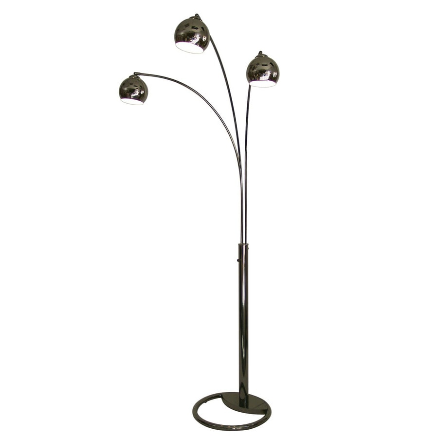 Shop Nova Lighting 83 In Black Nickel Indoor Floor Lamp