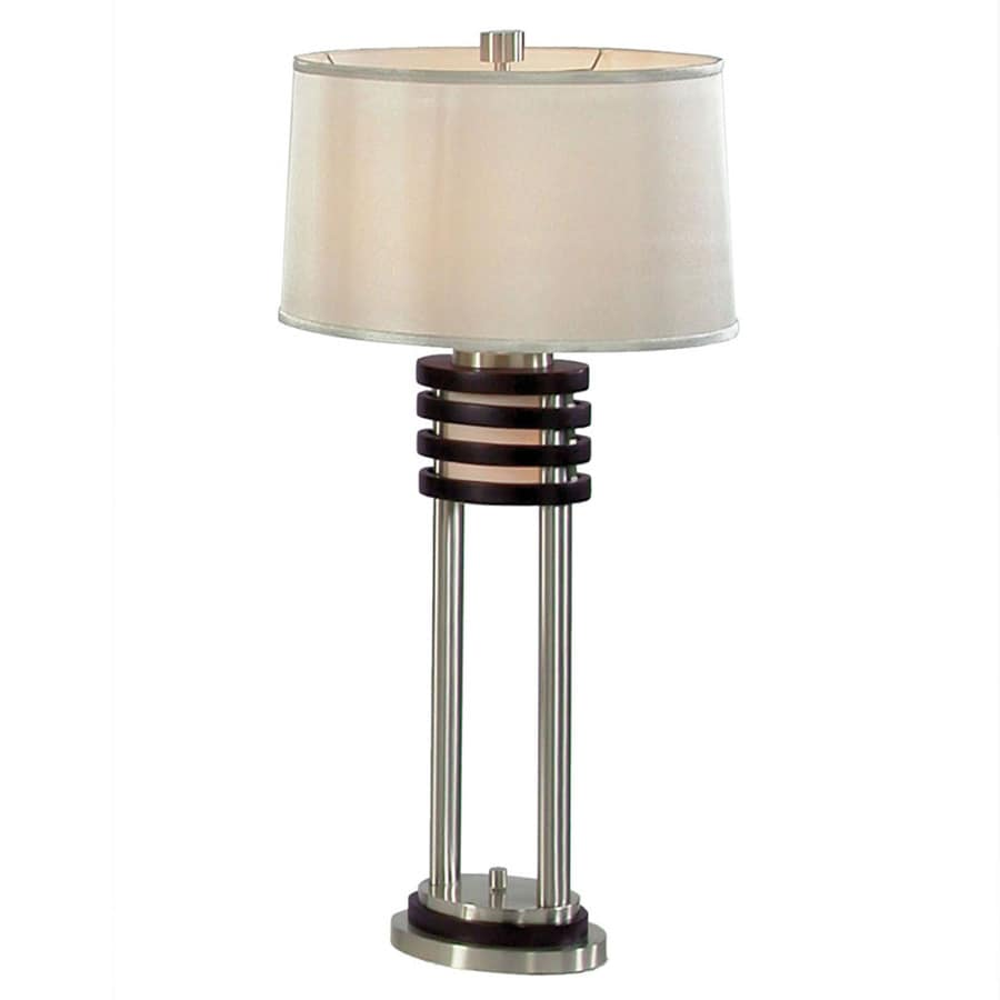 Nova Lighting 30 In Dark Brown Wood And Brushed Nickel