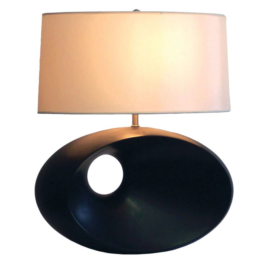 Nova Lighting 22-in Dark Brown Resin Standard 3-Way Switch Table Lamp with Fabric Shade