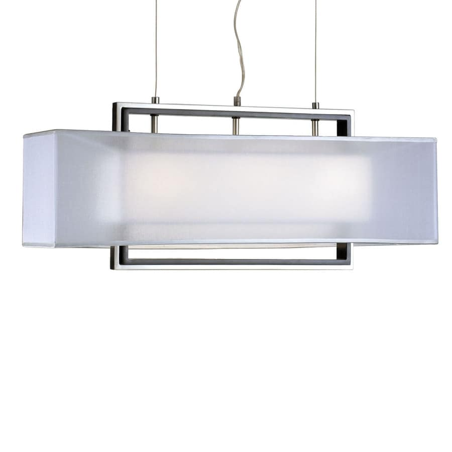Nova Lighting Amarillo 30-in Dark-Brown Wood and Brushed Nickel Single Pendant