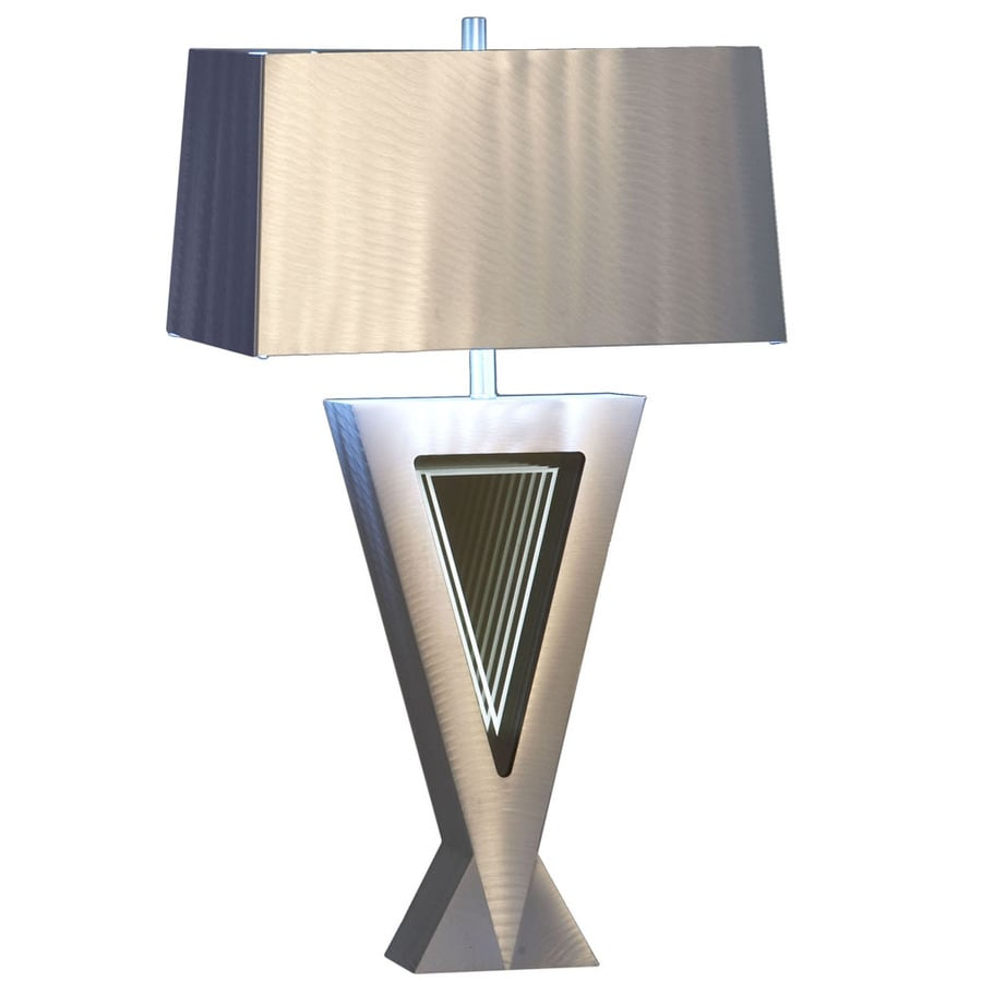 Nova Lighting 29-in Brushed Aluminum Standard Table Lamp with Metal Shade