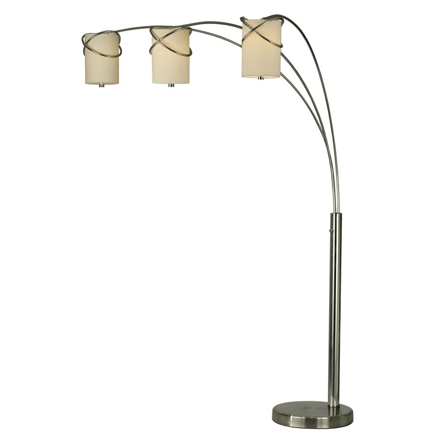 Nova Lighting 84-in Polished Chrome Multi-Head Floor Lamp with Fabric Shade