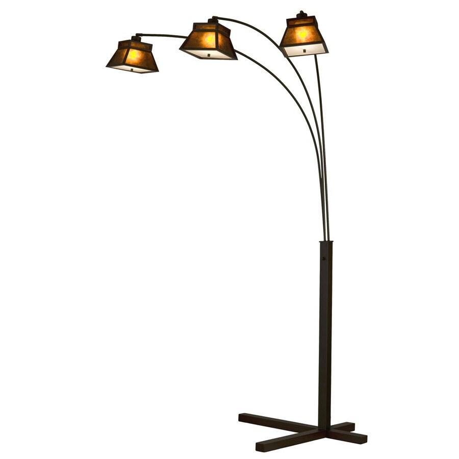 Nova Lighting 84-in Dark Brown Indoor Floor Lamp with Plastic Shade