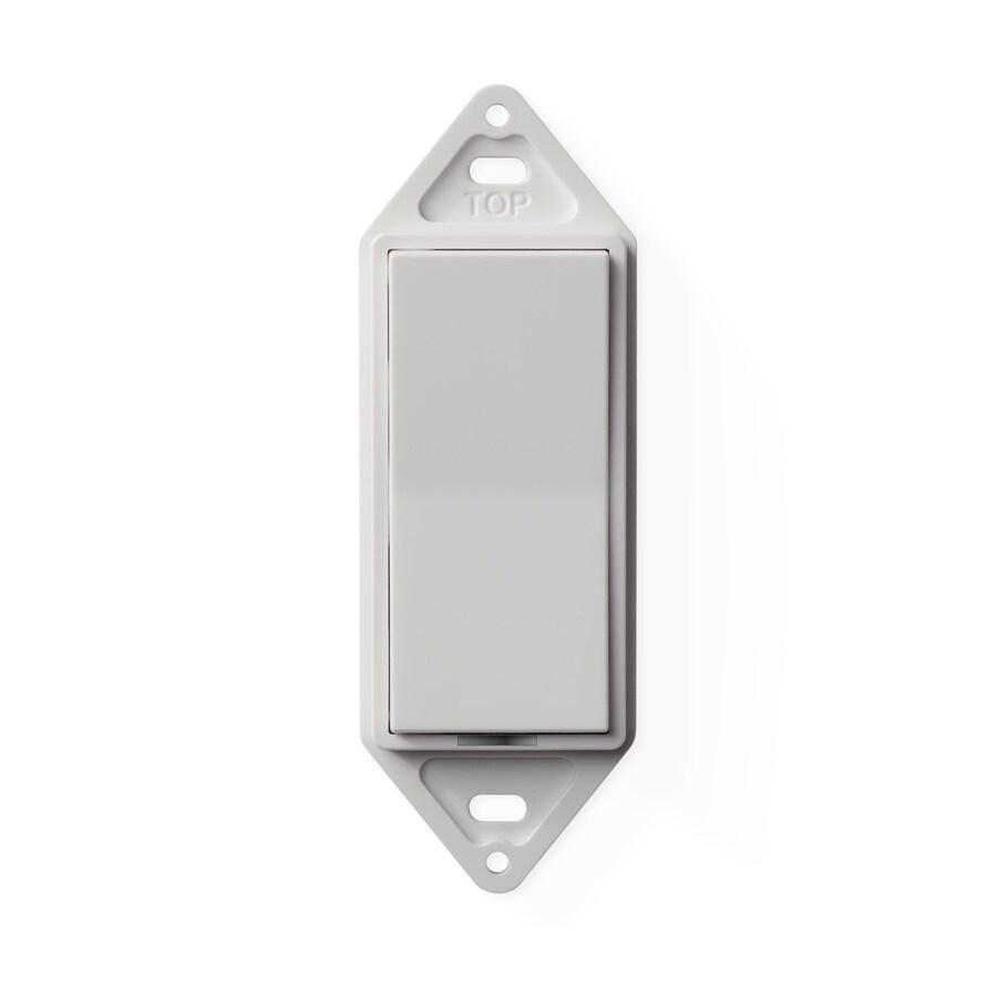 Shop Genius Pro 0-amp Multi-location White Rocker Light Switch at ...