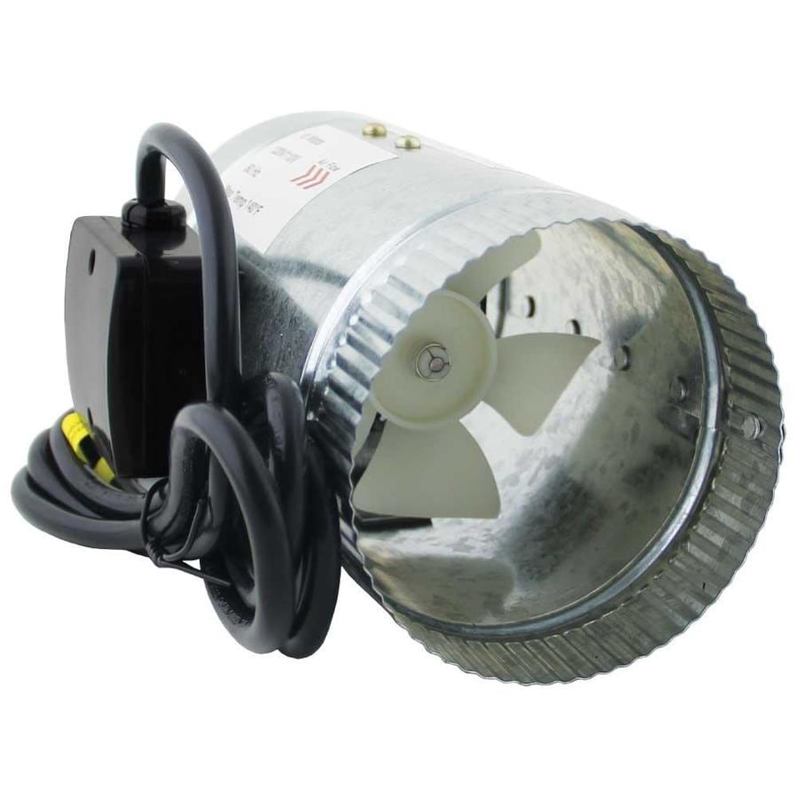 HomeAire 4-in dia Axial Duct Fan at Lowes.com