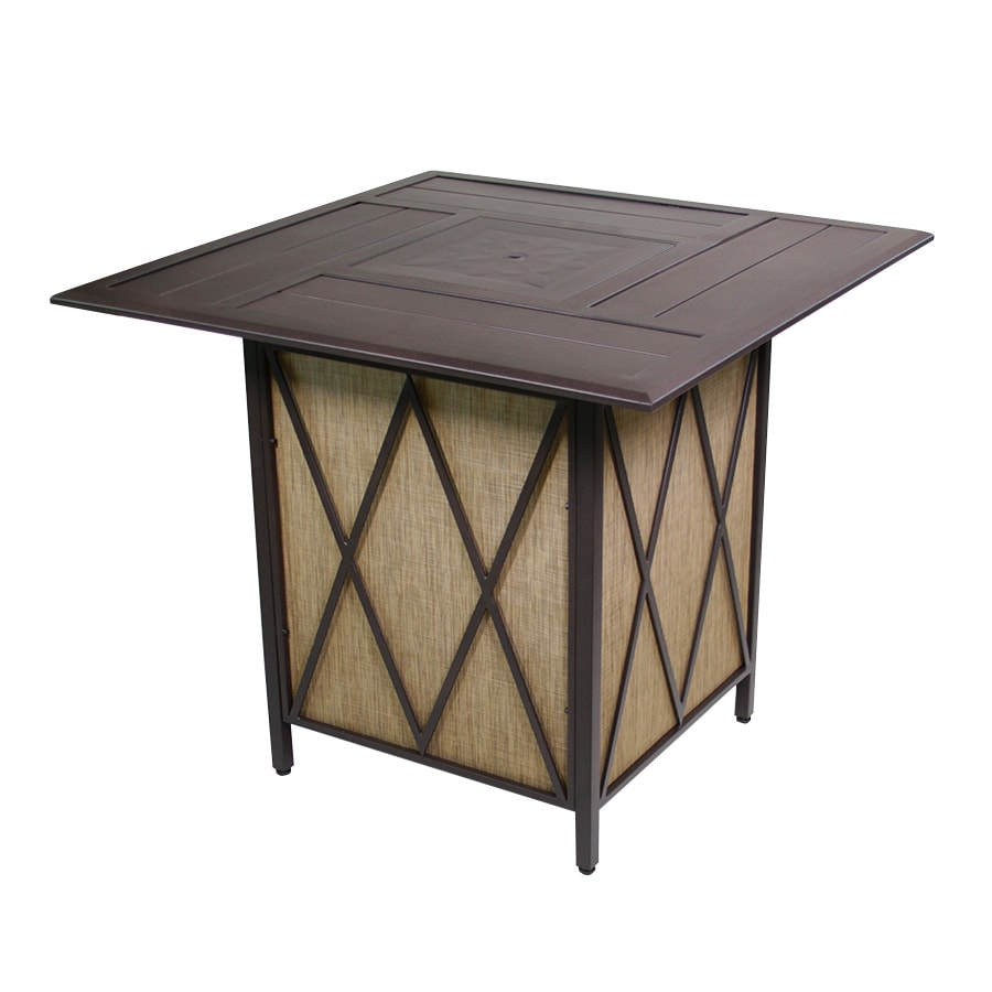 Courtyard Creations 42.3 In W 37,000 BTU Black Walnut Tabletop Steel Liquid  Propane Fire