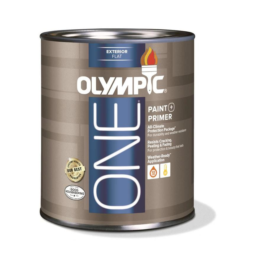 Olympic ONE Base 5 Flat Acrylic Exterior Paint (Actual Net Contents: 28.5-fl oz)