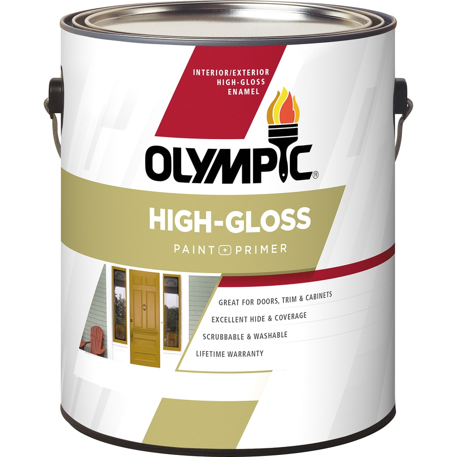 Interior acrylic enamel paint Olympic premium exterior latex paint review