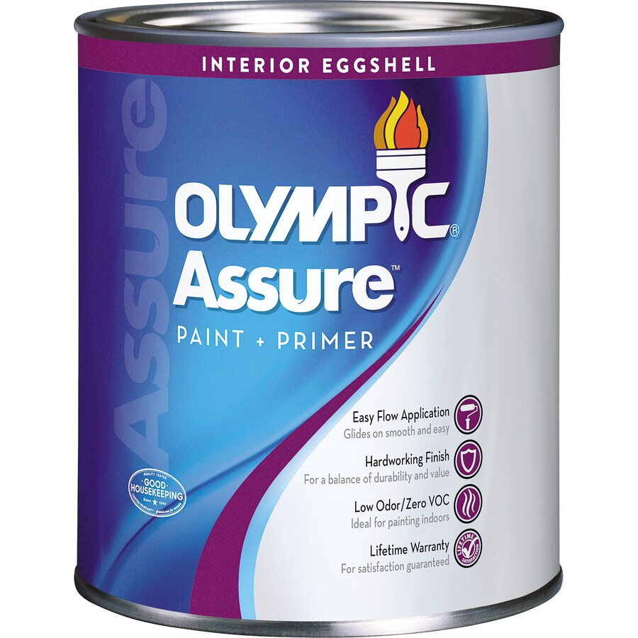 Olympic Assure Base 1/Ultra White Eggshell Latex Interior Paint and Primer in One (Actual Net Contents: 31-fl oz)