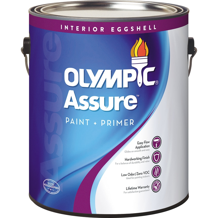 Shop Olympic Assure Base 3 Eggshell Latex Interior Paint And Primer In One Actual Net Contents