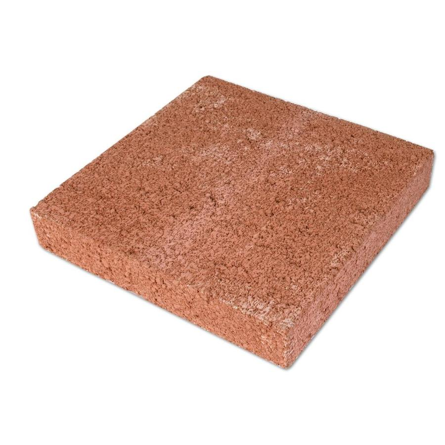 Red Color Patio Stone (Common: 12-in x 12-in; Actual: 11.625-in x 11.625-in)