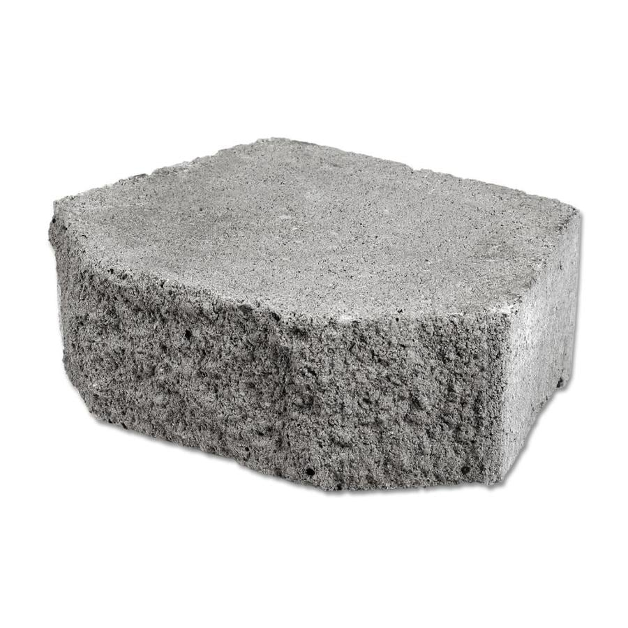 Slate Color In A Split Face Retaining Wall Block (Common: 4-in x 12-in; Actual: 4-in x 12-in)