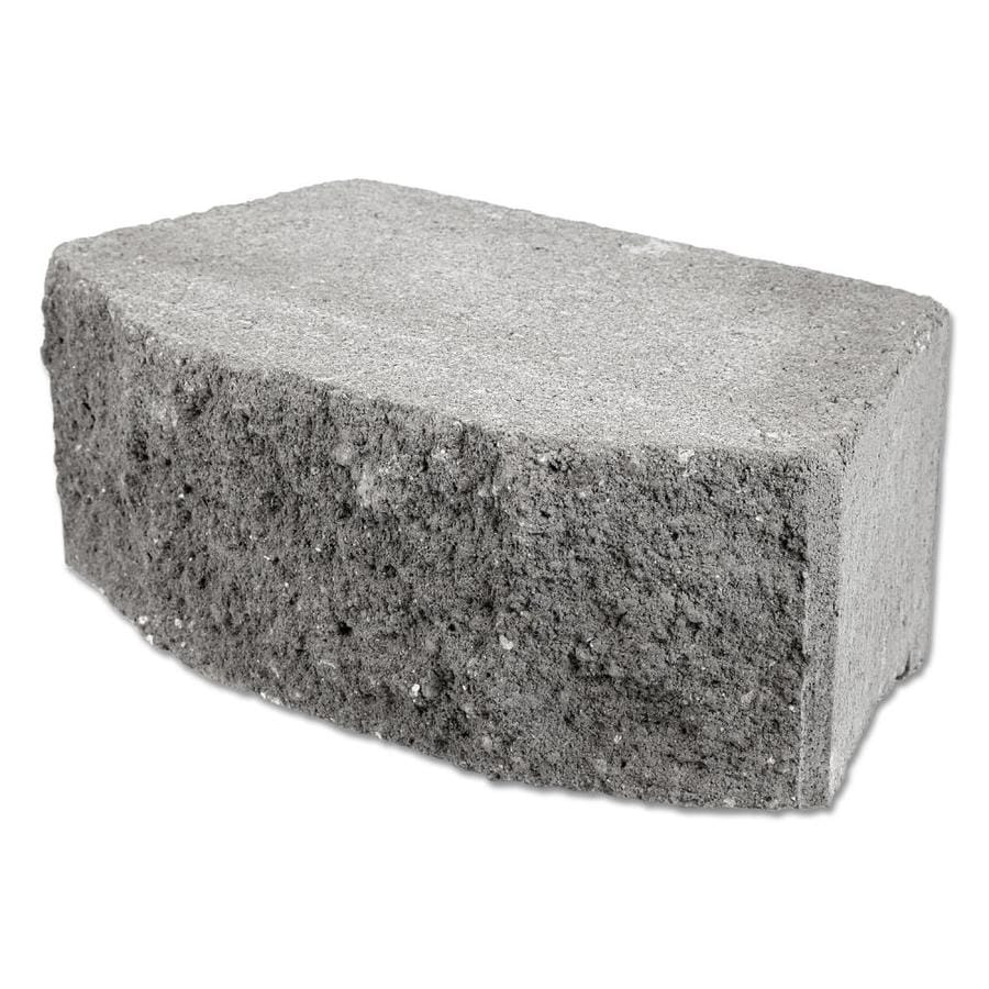 Slate Color In A Split Face Retaining Wall Block (Common: 6-in x 16-in; Actual: 6-in x 16-in)