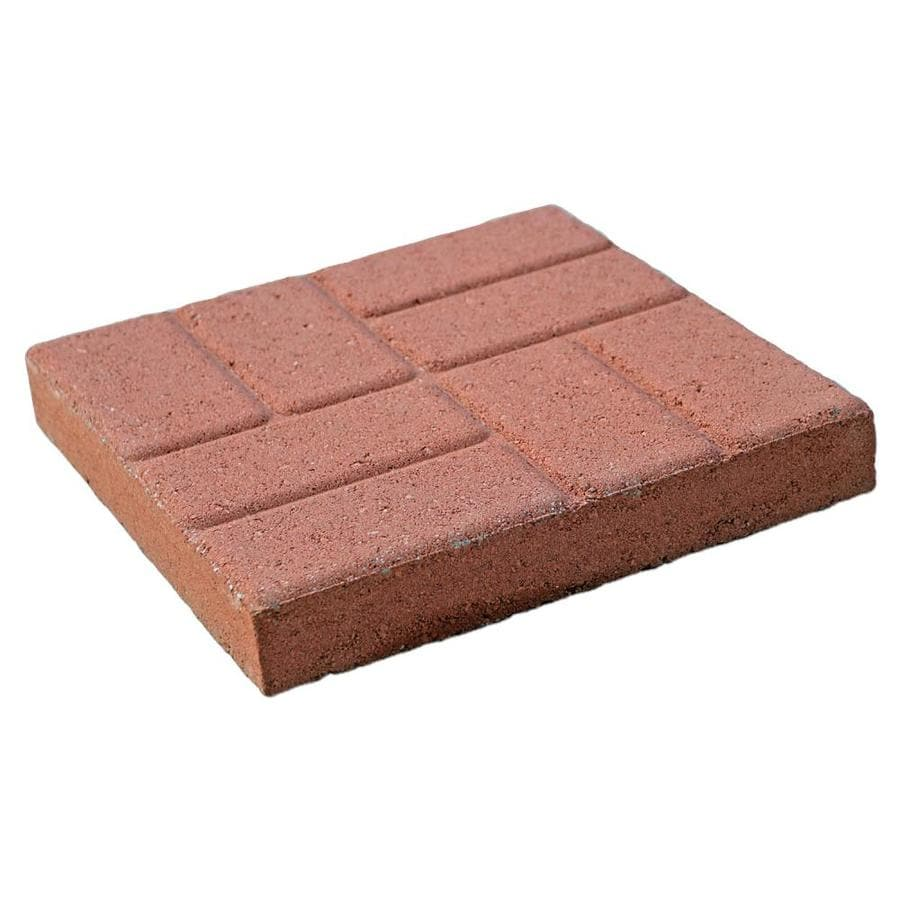 Red Color with A Brick Pattern Patio Stone (Common: 16-in x 16-in; Actual: 16-in x 16-in)