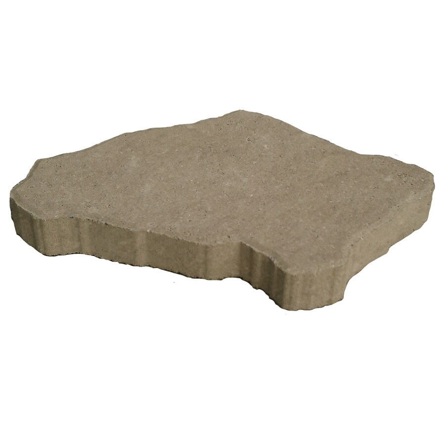 Tan/Charcoal Interlocking Patio Stone (Common: 18-in x 12-in; Actual: 12-in x 18-in)