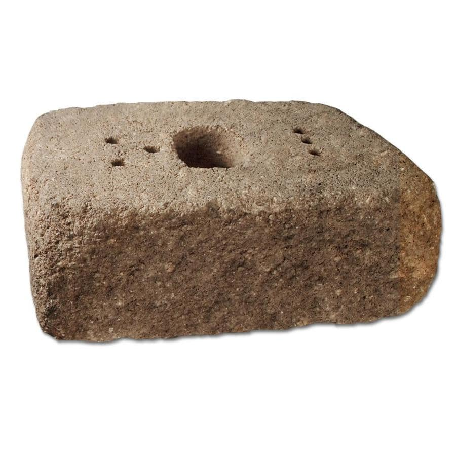 Antiqued Tan Charcoal Blend Retaining Wall Block (Common: 14-in x 16-in; Actual: 14-in x 16-in)