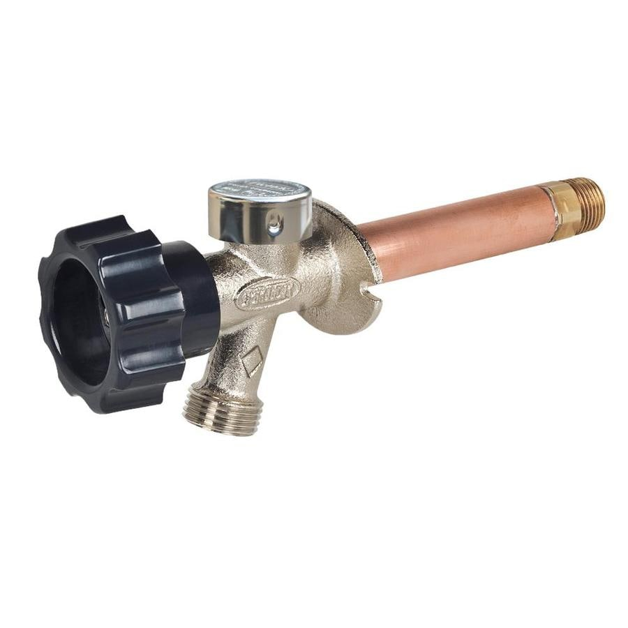 Prier Products 8-in L 1/2-in Dual Pattern Brass Frost Proof Wall Faucet Valve