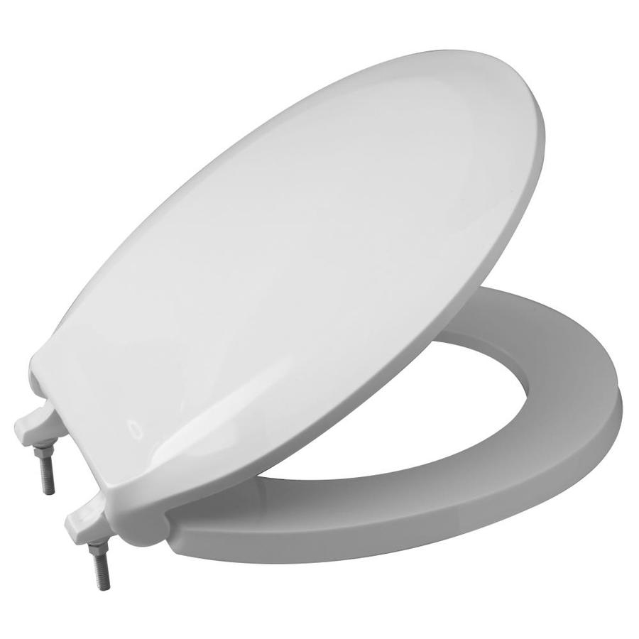Zurn Round White Closed Front Toilet Seat With Cover