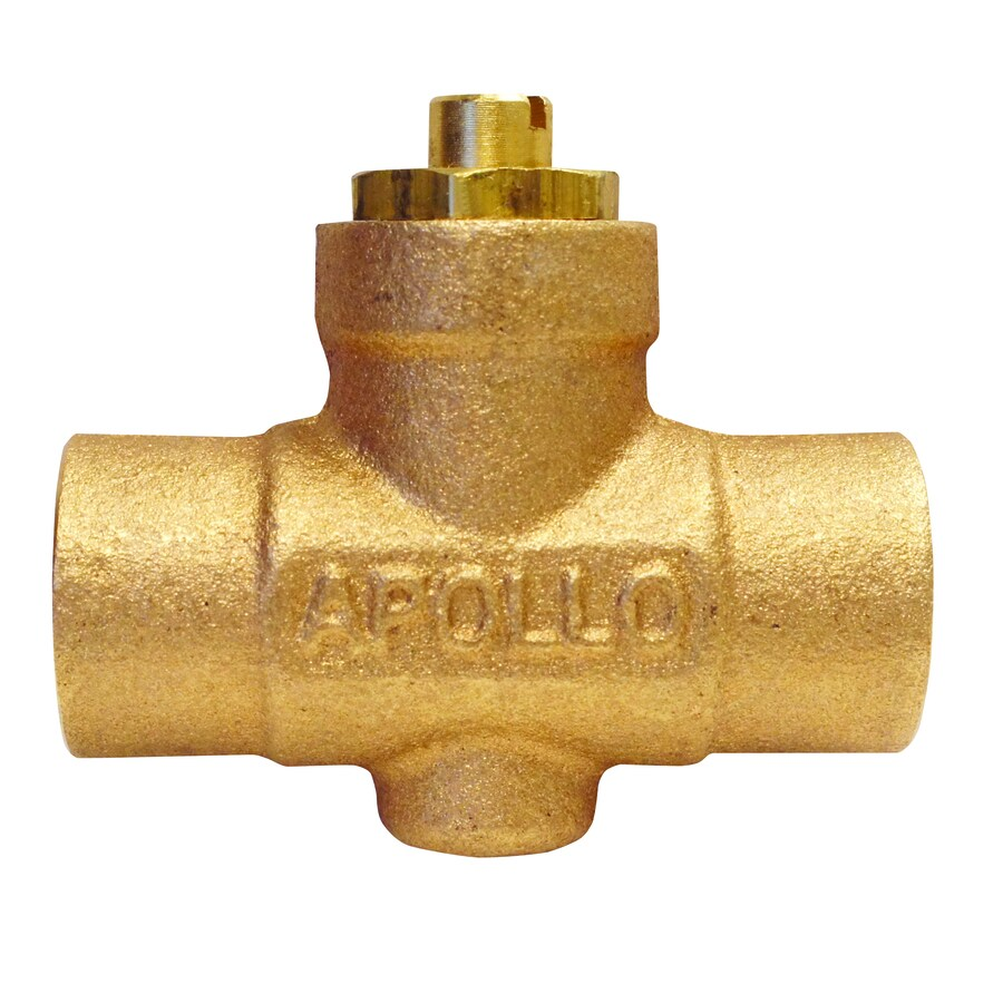 Apollo 1/2-in Bronze Sweat In-Line Straight Valve with Intregal Stop