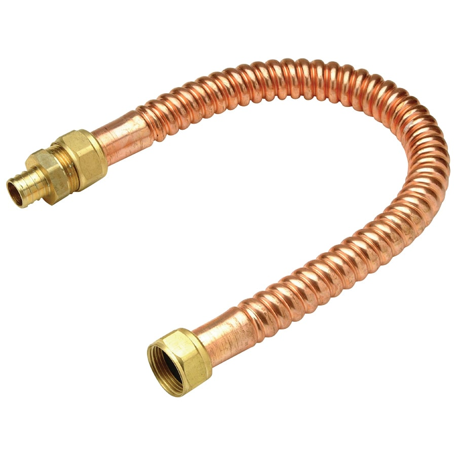 Shop apollo copper pex flexible connector crimp fitting at