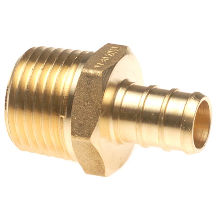 Shop apollo in dia brass pex male adapter